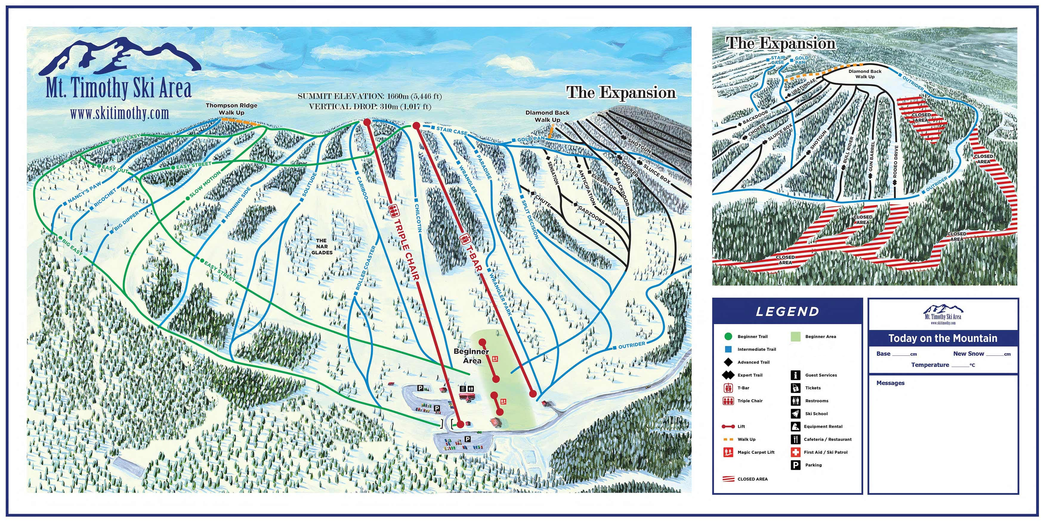 Trail Map & Information - Mount Timothy Recreation Resort