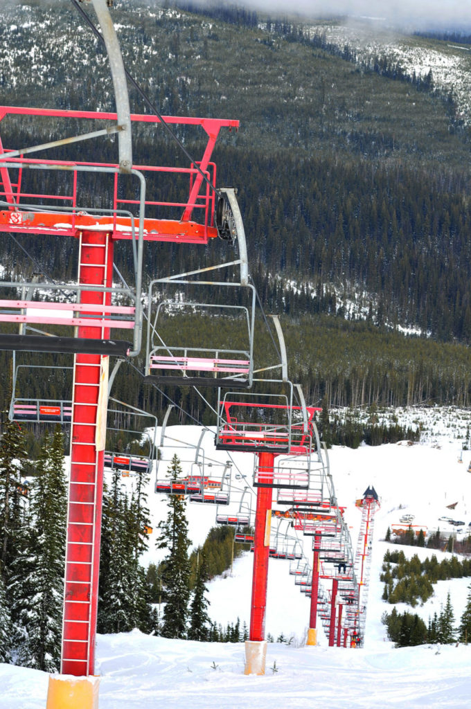 Chair lift at Mt Timothy